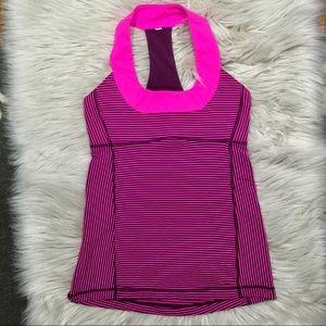Lululemon round neck racer back pink workout tank